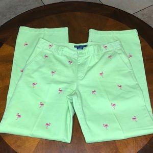 Ralph Lauren Flamingo Pants Size 10
